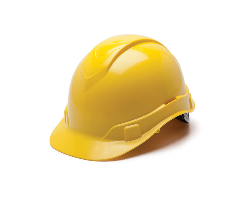 Yellow Hard Hat - 6 Point Ratchet Suspension