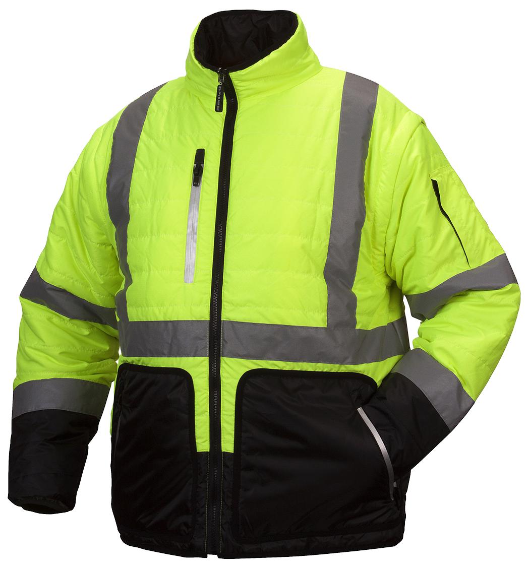Hi-Vis Lime Quilted Jacket - X-Large