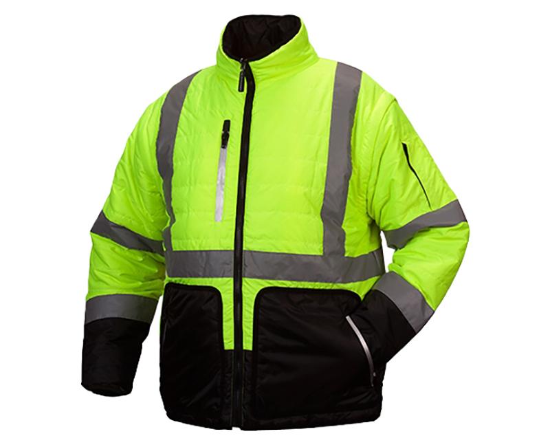 Hi-Vis Lime Quilted Jacket - Large