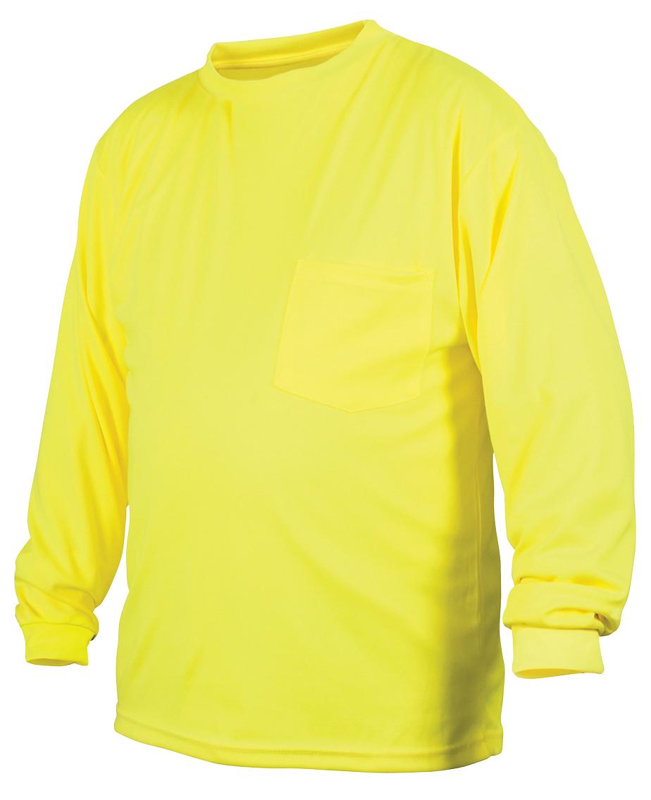 Hi-Vis Lime Long Sleeve - Large