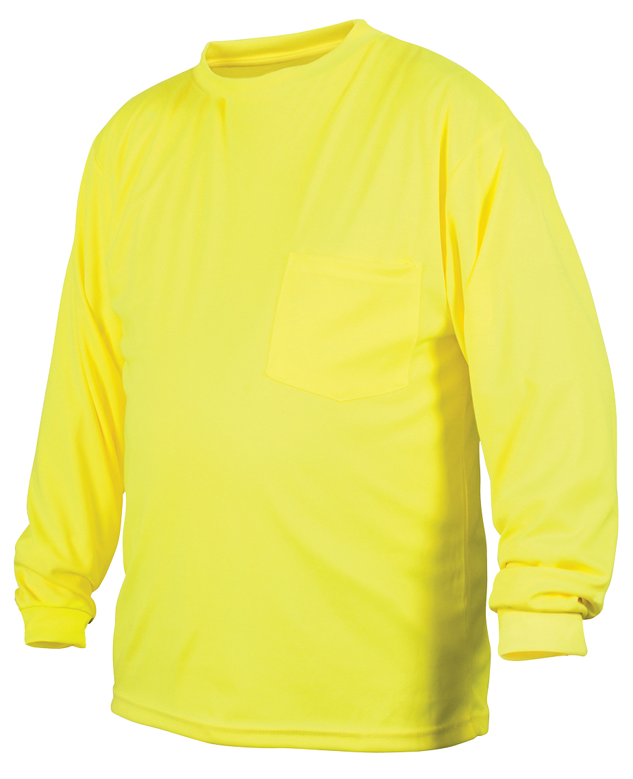 Hi-Vis Lime Long Sleeve - X-Large