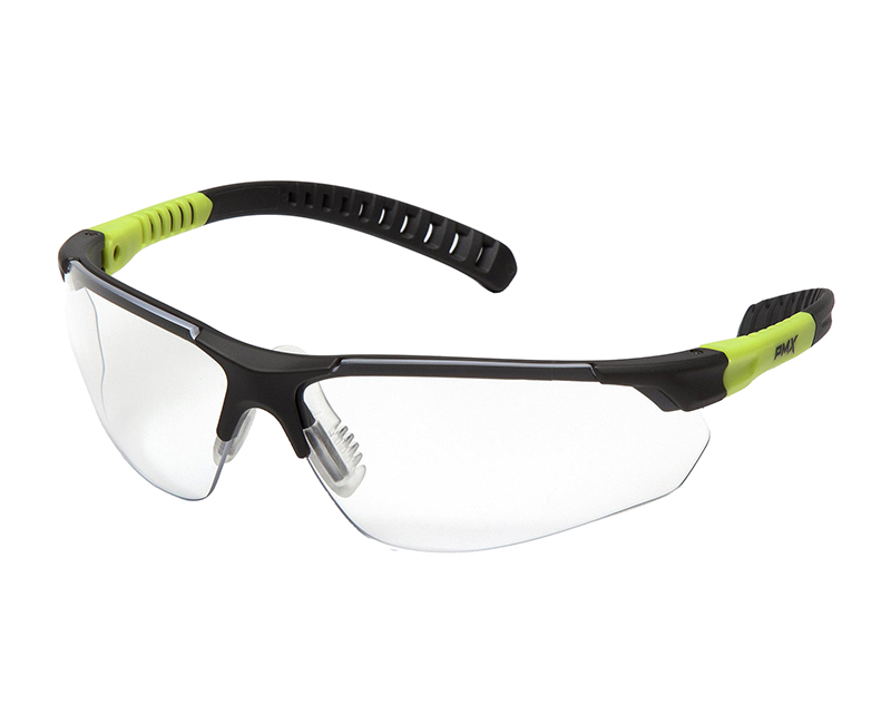 SITECORE GREY + LIME CLEAR LENS SAFETY GLASSES