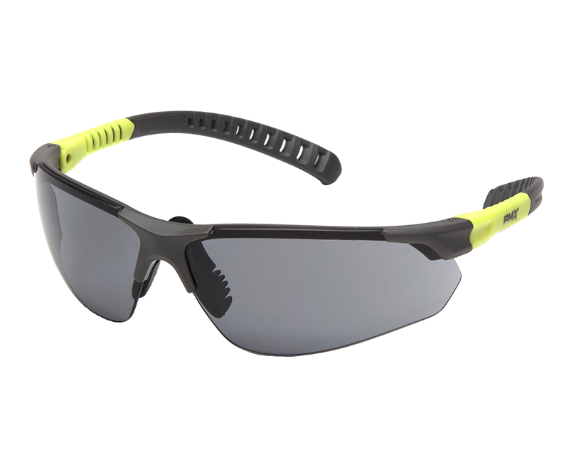 SITECORE GREY + LIME GREY LENS SAFETY GLASSES