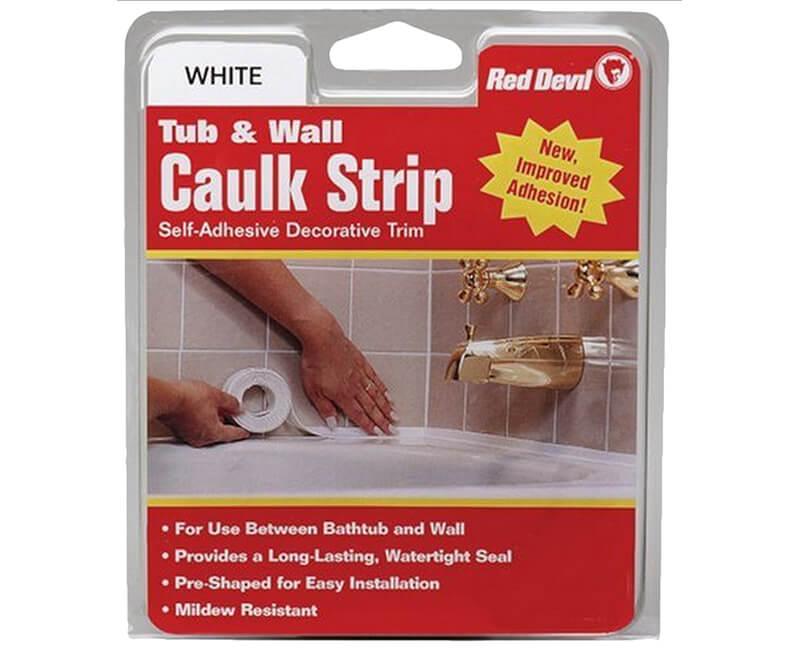 """7/8"""" X 11' Tub And Wall Caulk Strips"""