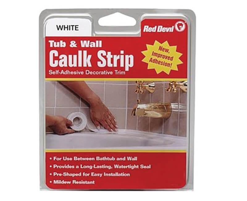 """1-1/4"""" X 5' Tub And Wall Caulk Strips"""