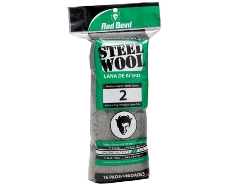 Medium Coarse Steel Wool - 16 Pack