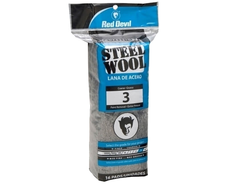 Coarse Steel Wool - 16 Pack