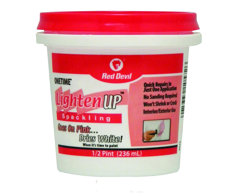 R/D LIGHTEN UP SPACKLE TUB 1/2 PINT