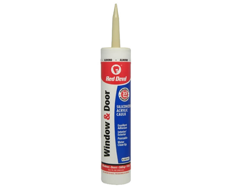 10 Oz. Window & Door Silicone Acrylic Caulk - Almond