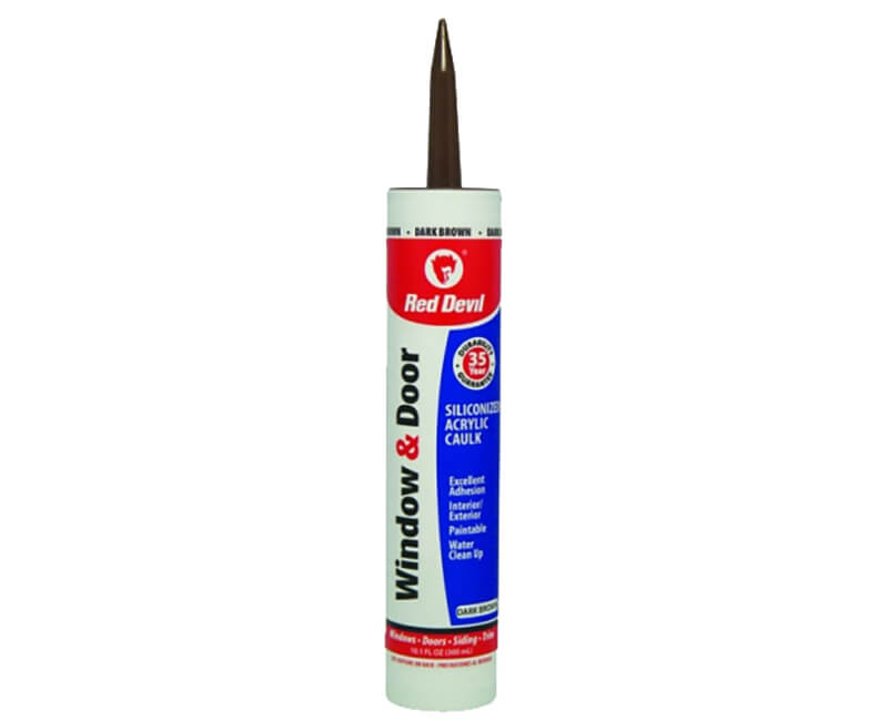 10 Oz. Window & Door Silicone Acrylic Caulk - Brown