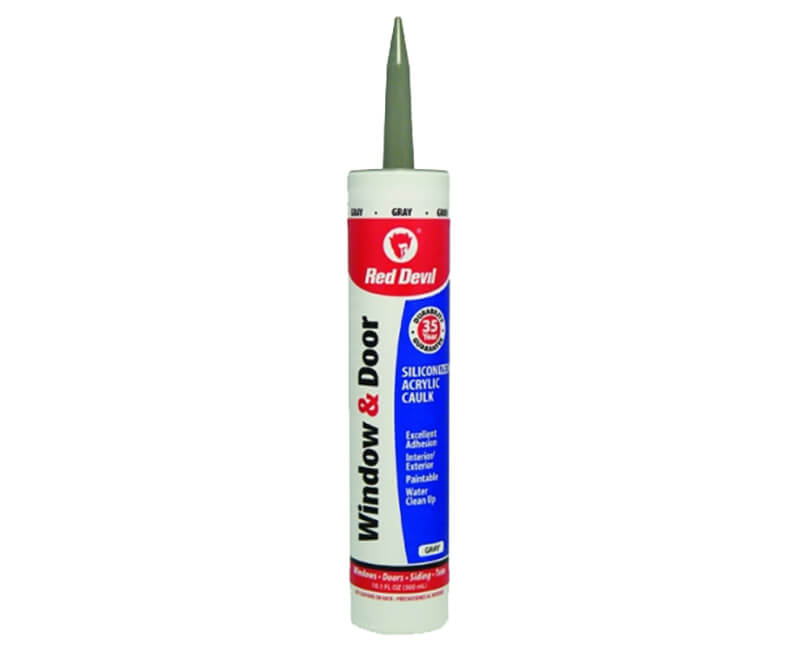 10 Oz. Window & Door Silicone Acrylic Caulk - Gray