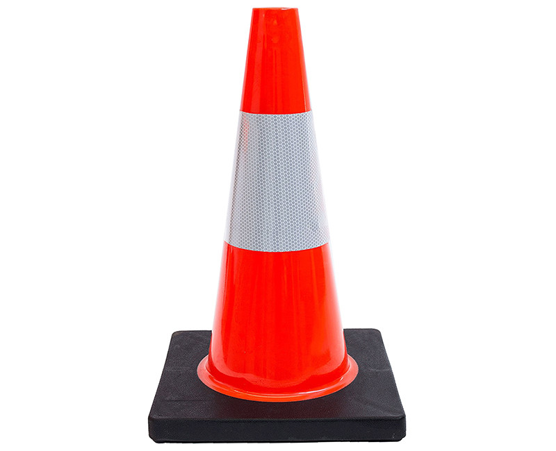 """18"""" ORANGE TRAFFIC SAFETY CONE 3 LB WITH 6"""" REFLECTIVE COLLAR"""