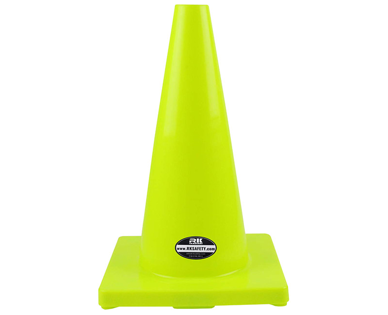 "18"" LIME TRAFFIC SAFETY CONE 3 LB"