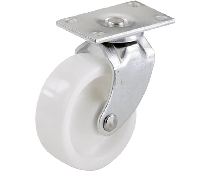 "2"" White Plastic Swivel Bearing Plate - 2 Per Card"