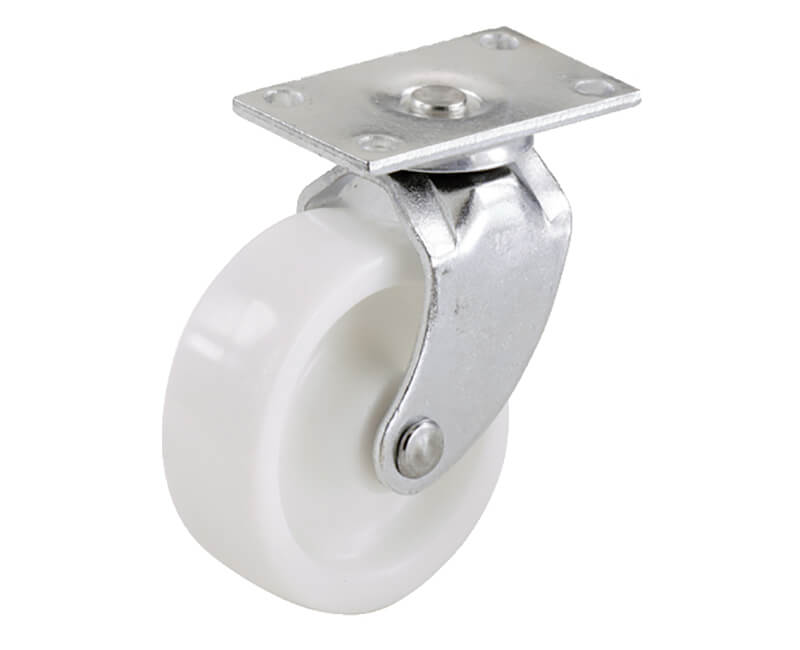 "1-5/8"" White Plastic Swivel Bearing Plate - 2 Per Card"