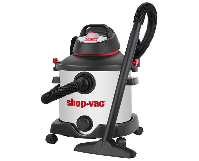 8 Gal Stainless Steel Wet/Dry Utility Vac - 5 PHP