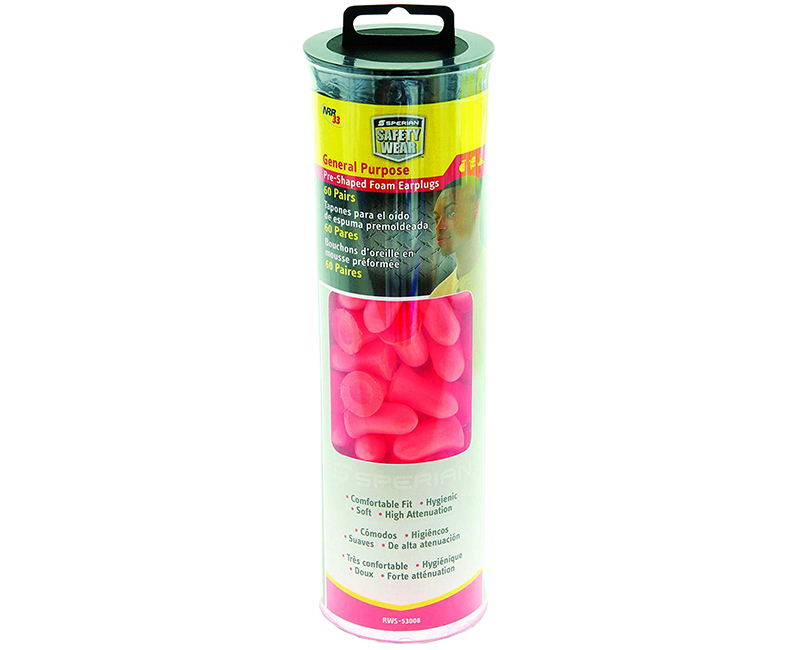 Max Foam Earplugs In A Tube - 60 Pair