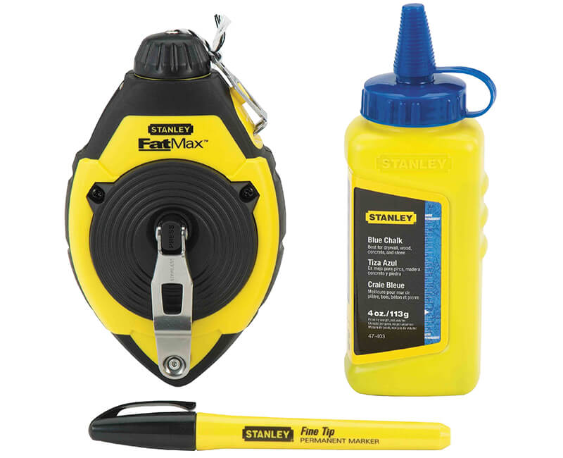 Chalk Line Set With Fine Tip Marker