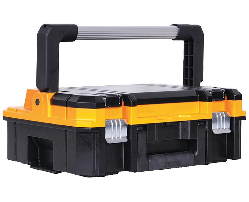 TSTAK TOOL BOX W/ LONG HANDLE W/ DIVIDERS + ORGANIZER FOR DRILL BITS