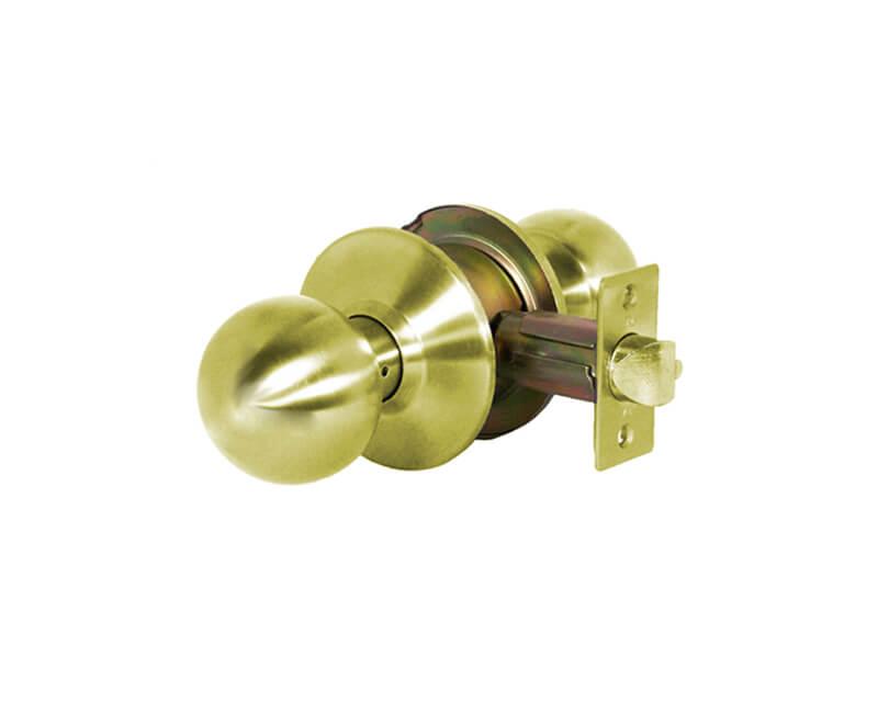 Heavy Duty Cylindrical Ball Knob - Privacy Lockset US3 2-3/4 Backset