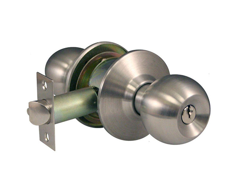 Heavy Duty Cylindrical Ball Knob - Storeroom Lockset US3 2-3/4 Backset