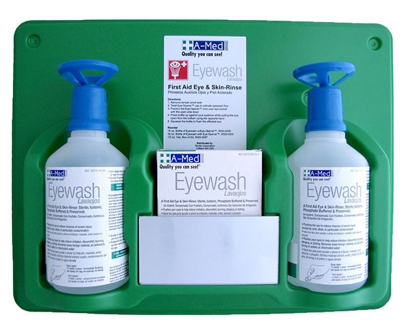 A-MED EYEWASH STATION (2) 16OZ W/ EYE OPENER