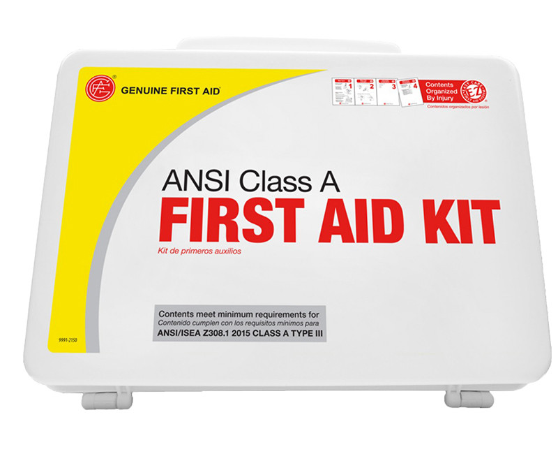 25 PERSON, EASY CARE ANSI FIRST AID KIT PLASTIC CASE CLASS A