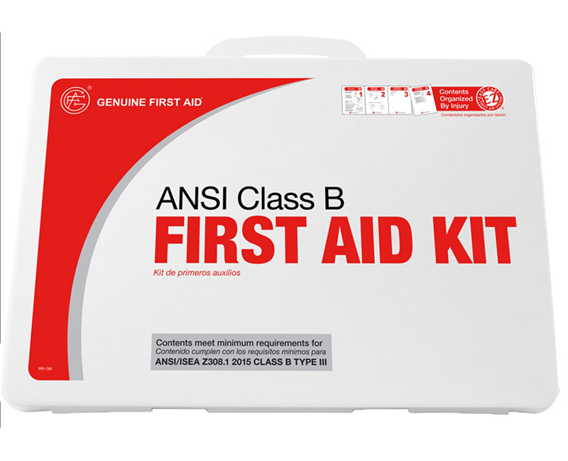 50 PERSON, EASY CARE ANSI APPROVED FOR JOB SITE FIRST AID KIT PLASTIC CASE CLASS B