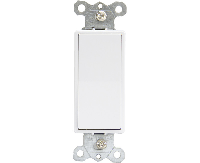 15 AMP 120 Volt Decorator Single-Pole Single Switch - White Boxed