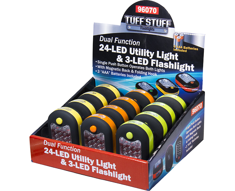 24-LED Utility Light With 3-LED Flashlight