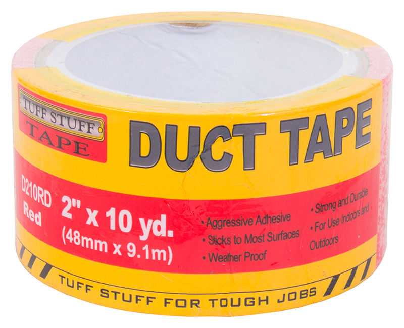 "2"" X 10 YD. Duct Tape - Red"