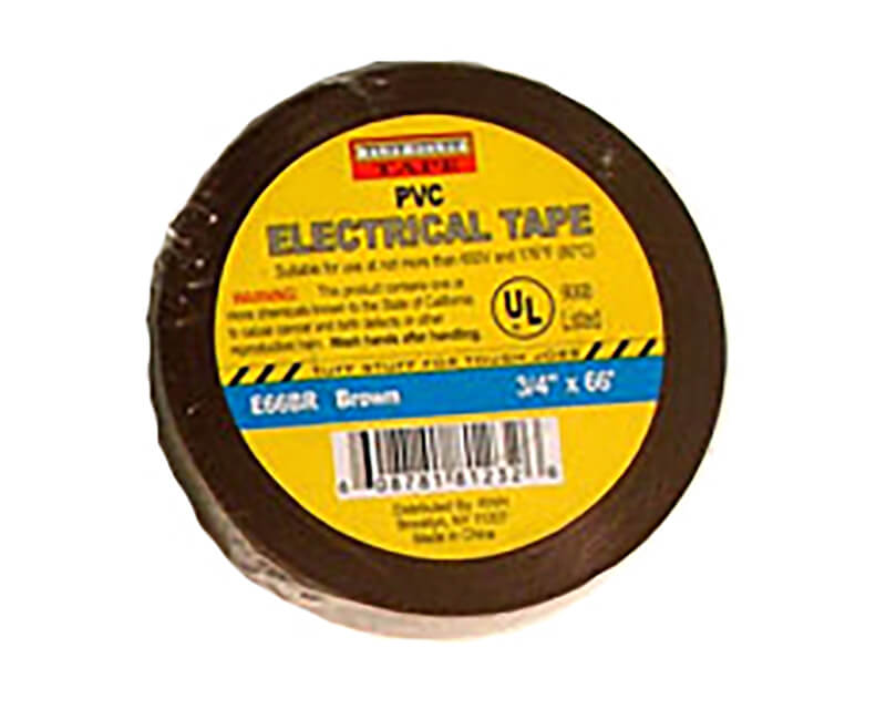 "3/4"" X 60' Electrical Tape - Brown"