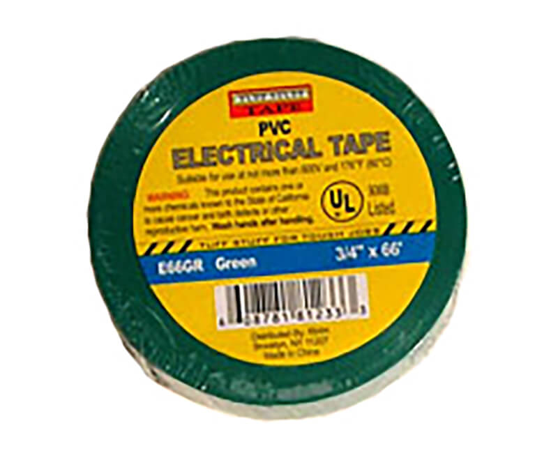 "3/4"" X 60' Electrical Tape - Green"
