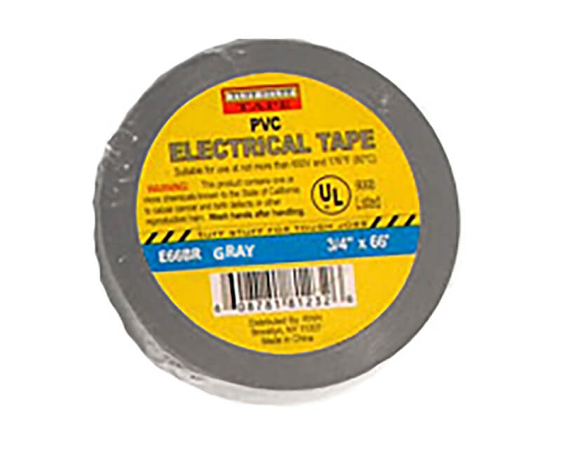 "3/4"" X 60' Electrical Tape - Grey"