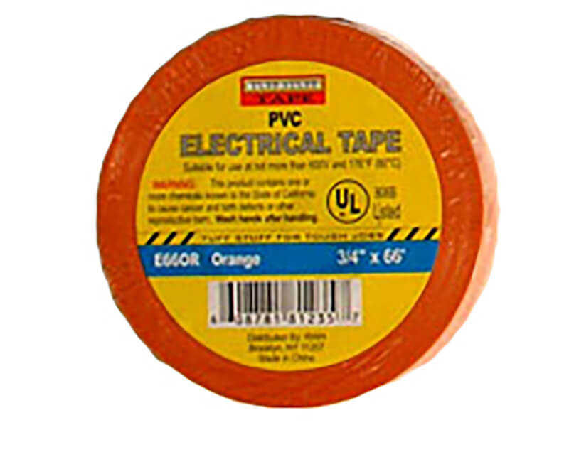 "3/4"" X 60' Electrical Tape - Orange"