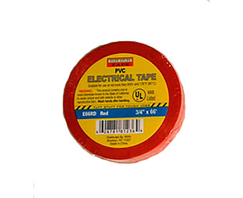 "3/4"" X 60' Electrical Tape - Red"