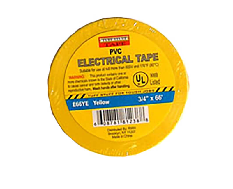 "3/4"" X 60' Electrical Tape - Yellow"