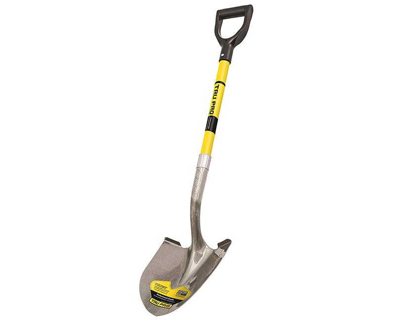 Round Point Shovel - D-Handle Fiberglass