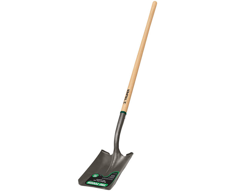 Square Point Shovel - Long Wood Handle