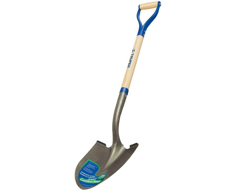 Round Point Shovel - Steel D-Handle