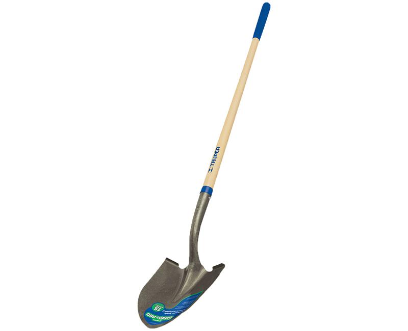 """Round Point Shovel - 48"""" Handle, 10"""" Grip"""