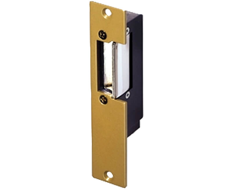 "Electric Strike For Installations in Wood and Metal Jambs - 2-7/16"" X 7-15/16"" Face Plate"