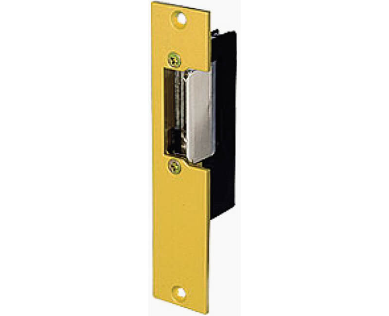 "Electric Strike For Installations in Wood and Metal Jambs - 1-1/4"" X 5-7/8"" Face Plate"