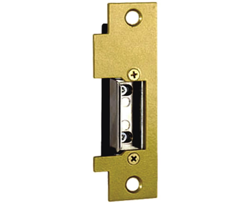 Electric Strike For Offset Applications With Mortise or Cylindrical Vestibule in Wood or Metal Jambs