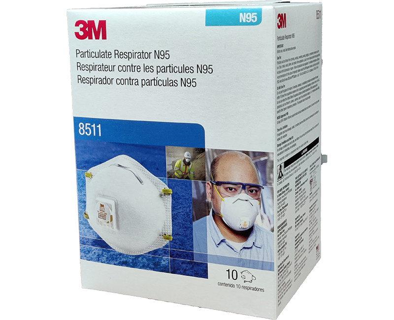 3M N95 PARTICULATE RESPIRATOR WITH VALVE 10 PER BOX