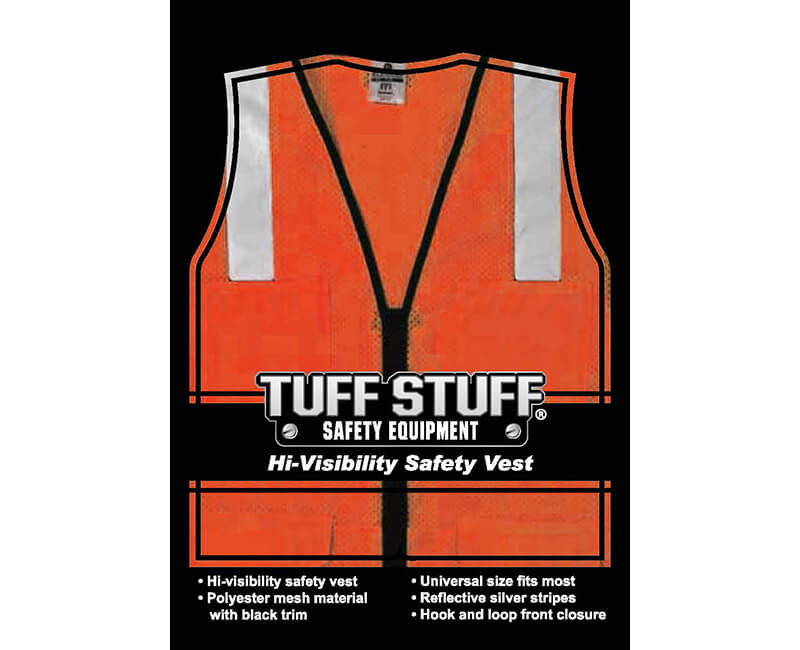 "Orange Mesh Vest With 2"" Silver Reflective Strip - Fits L - XL"