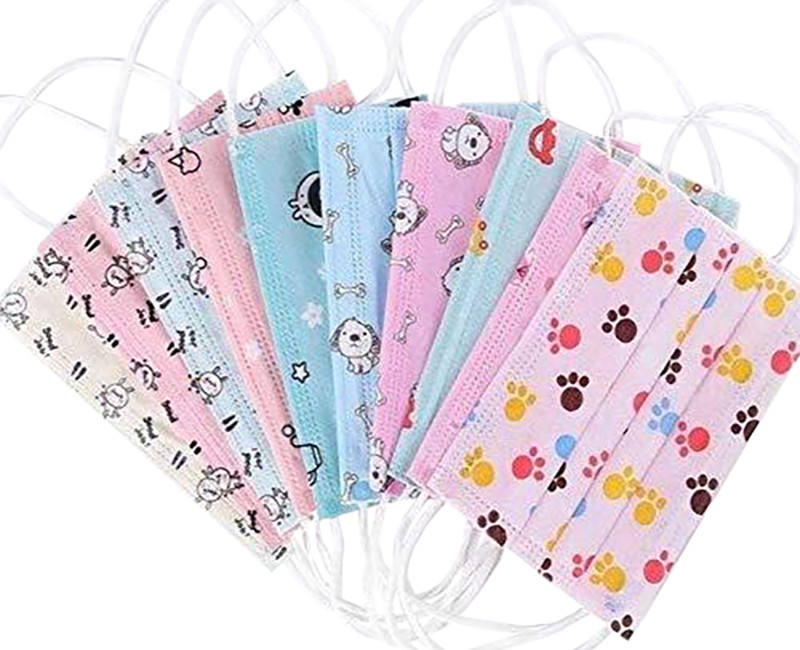 FACE MASKS FOR KIDS 3-LAYERS 50 PK
