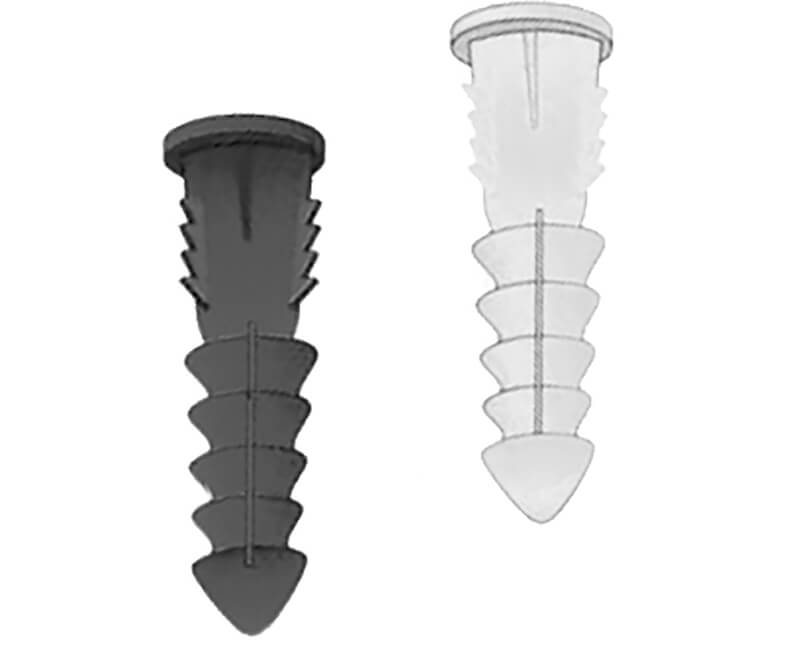 Plastic Ribbed Anchors 6-8 Boxed