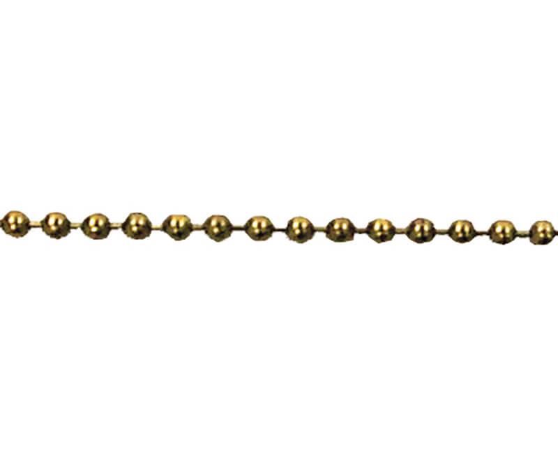 "Beaded Chain - 36"" Brass"