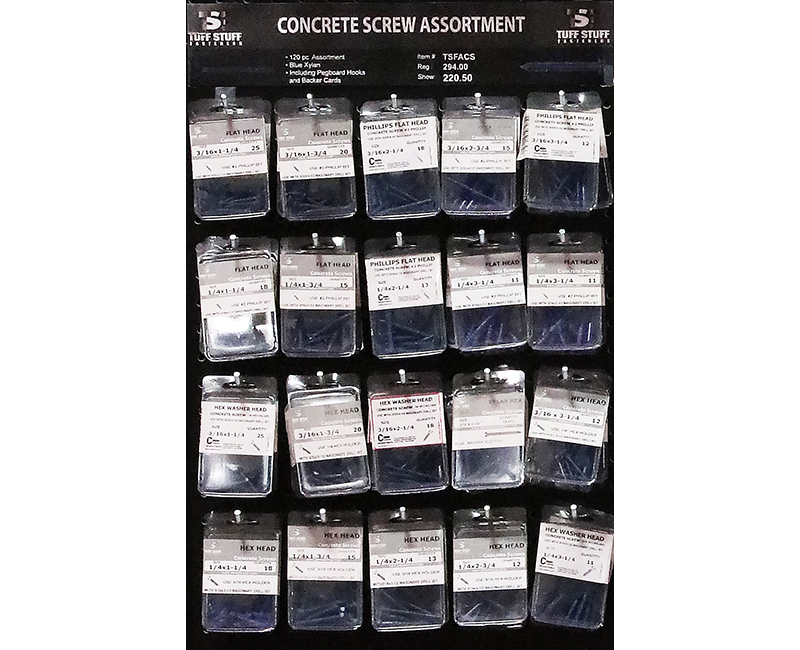 Fastener Assortment - Concrete Screws